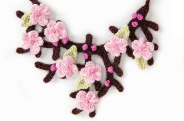 Cherry Blossom Necklace Free Crochet Pattern Crochet Kingdom