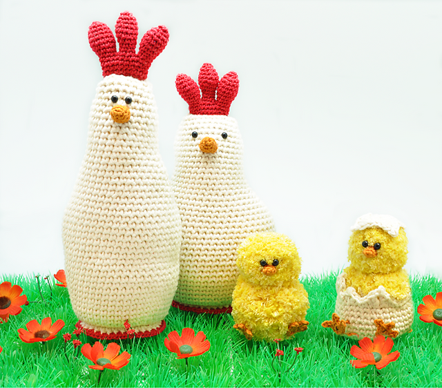 Chicken Family - Easter Crochet Toy Patterns