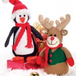 Christmas Penguin and Reindeer Free Crochet Patterns