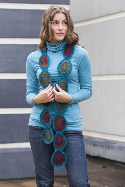 Circle Shades Scarf free crochet