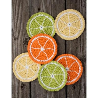 Citrus Slice Coasters Free Crochet Pattern