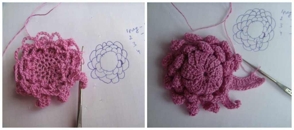 Colorful Crochet Flowers + Free Pattern Step By Step 10