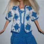 Country girl dress and Jacket for Barbie Free Crochet Clothes Pattern