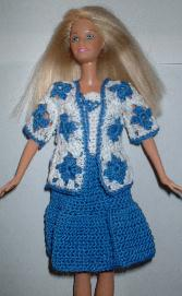 Country girl dress and Jacket for Barbie Free Crochet Clothes Pattern 1