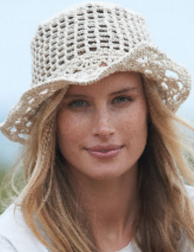 Crochet-Hat-with-Lacy-Brim-Free-Pattern