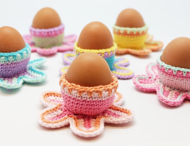 Easter Egg Cups Free Crochet Pattern Crochet Kingdom