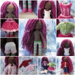 Ebony Jane's wardrobe crochet doll clothes