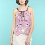 Exploded Pineapple Halter Free Crochet Pattern