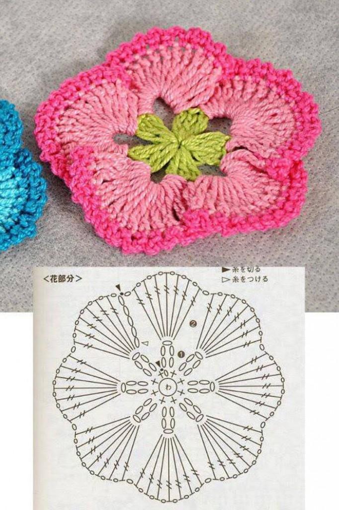 Fan Petal Crochet Flower Pattern ? Crochet Kingdom