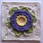 Flor Crochet Square