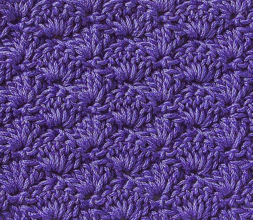 Free Crochet Stitch Solid Scallop ⋆ Crochet Kingdom