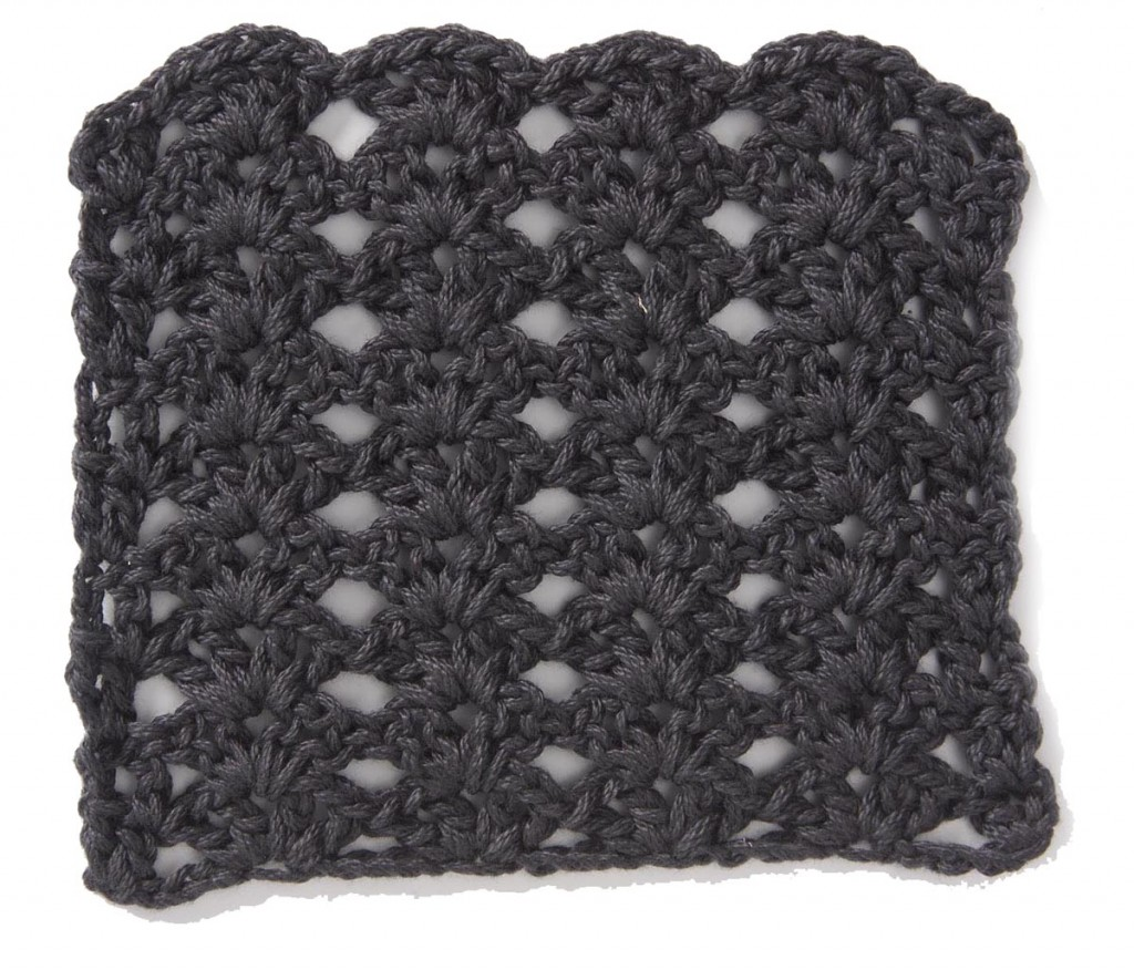 Free Crochet Stitch Stacked Shell Pattern