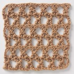 Free Crochet Stitch Star Mesh