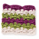 Free Crochet Stitch Striped Scallop