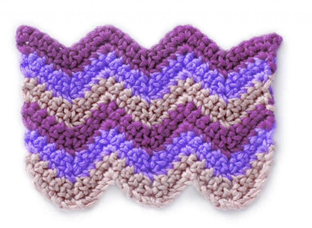 Free-Crochet-Striped-Chevrons-Stitch
