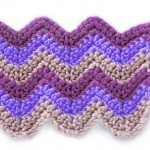 Free Crochet Striped Chevrons Stitch