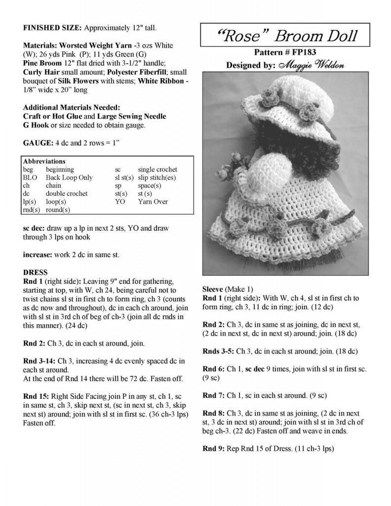 Baby Knitting Patterns Amigurumi Rose Doll Free Pattern ... | 1024x792