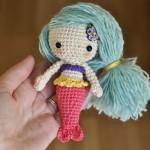 Free crochet mermaid amigurumi pattern