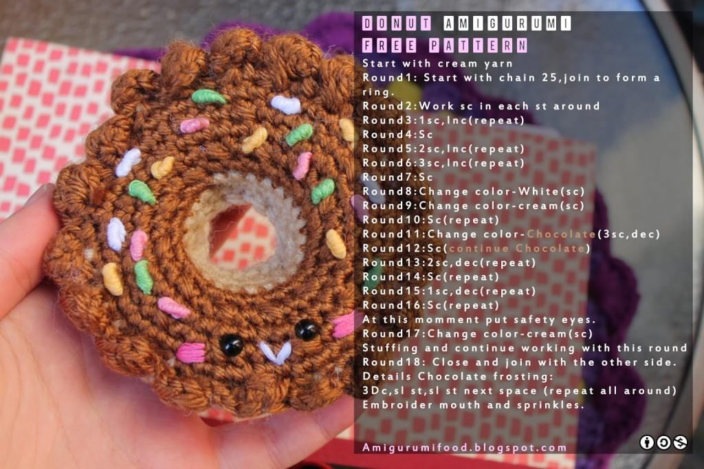 Free pattern Donut Amigurumi