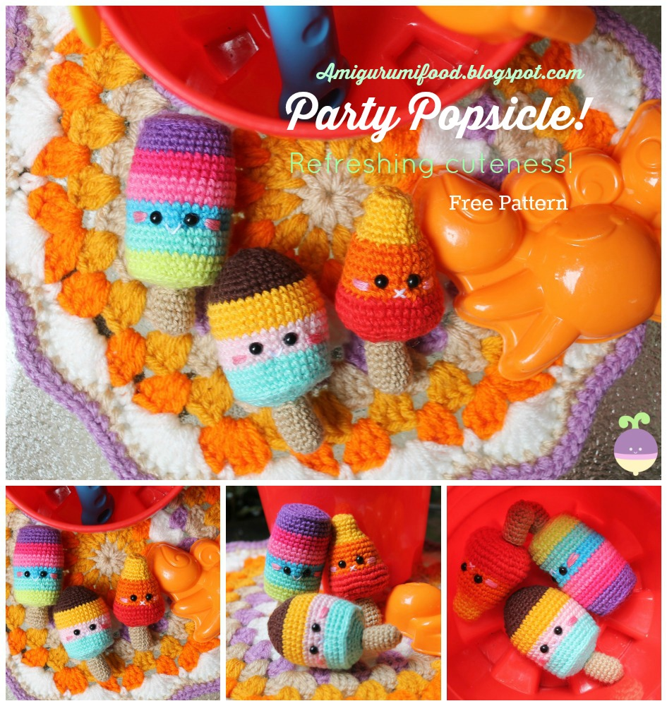 Free pattern for Party Popsicle Amigurumi