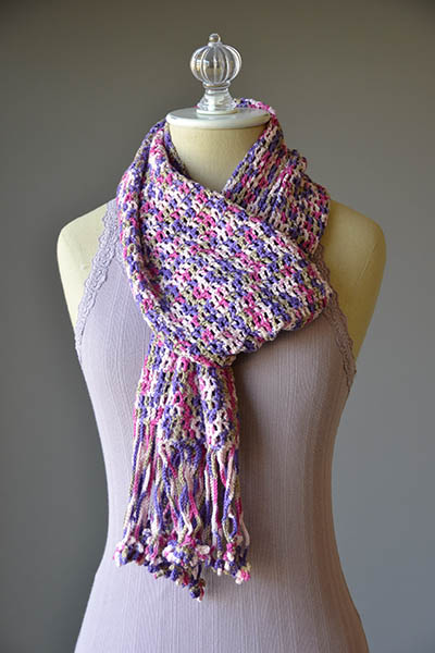 Fun Fringe Scarf Crochet Pattern