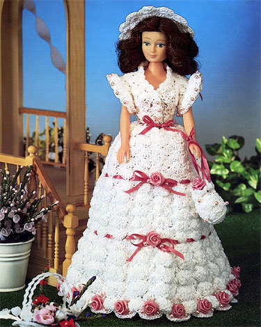 Garden Party Dress For Barbie Free Crochet Pattern