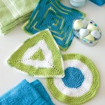 Geometric Washcloths free crochet patterns