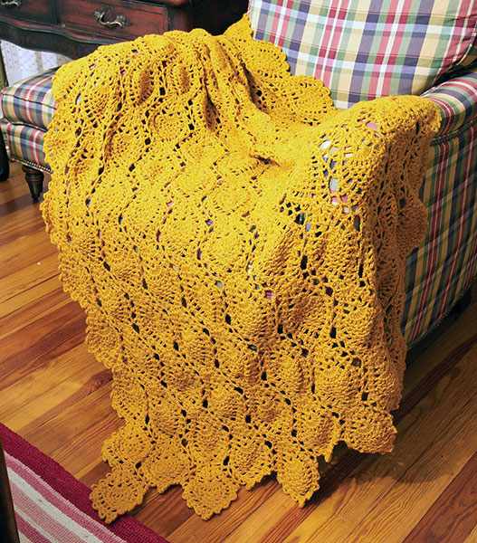 Golden Pineapples Free Crochet Blanket Pattern