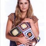 Granny Square Cushion Free Crochet Pattern