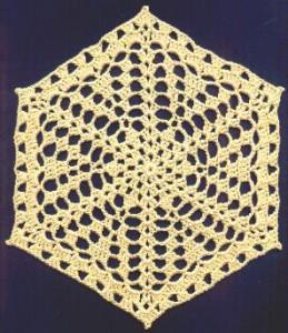 Hexagonal Doily Free Crochet Pattern