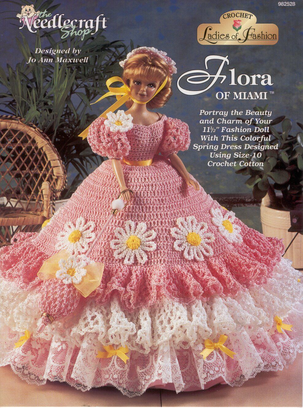 Flora Of Miami Gown For Barbie Free Crochet Pattern