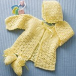 Lemon Drops Free Crochet Baby Hat, Jacket and Booties