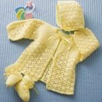 Lemon Drops Free Crochet Baby Hat, Jacket and Booties