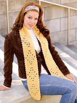 Let's Try Lace Scarf Free Crochet