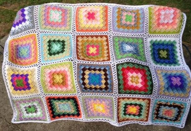 Lush Garden Bavarian Stitch Afghan