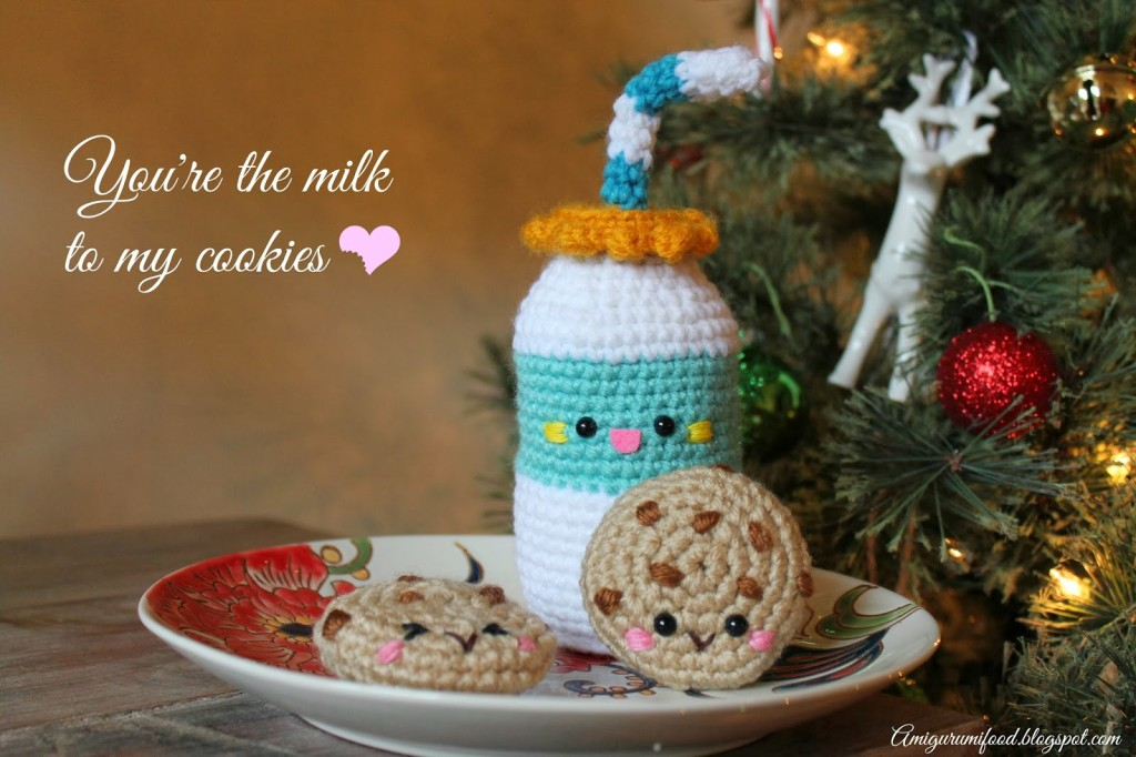 Milk and Cookies amigurumi pattern