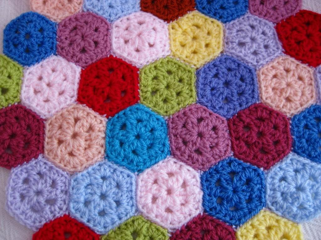 Mini Hexagon Pattern Free Crochet