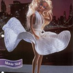 Movie Star White Dress for Barbie Free Crochet Pattern