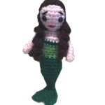 Myra, the Little Mermaid (Free amigurumi doll pattern)