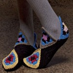 Patons Granny Square Slippers Free Crochet Pattern