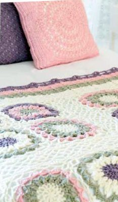 Pure Wool Motif Throw Free Crochet Pattern