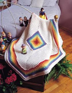 Rainbow Baby Blanket Free Crochet