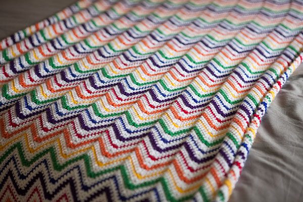 Rainbow Crochet Blankie Free Pattern Crochet Kingdom