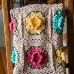 Rebekah's Flower Square Motif Afghan