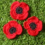 Remembrance Poppy Free Crochet Pattern