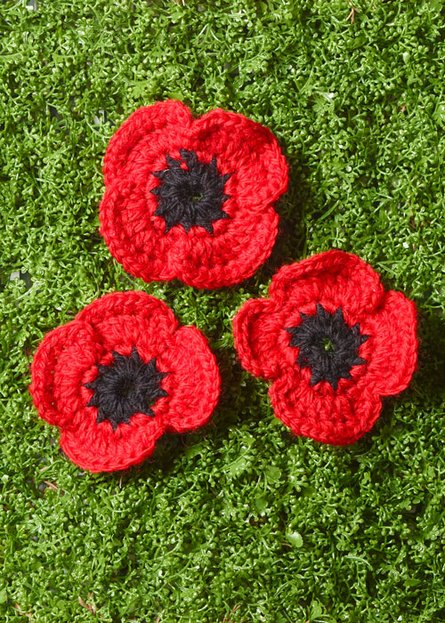 Remembrance Poppy Free Crochet Pattern ⋆ Crochet Kingdom