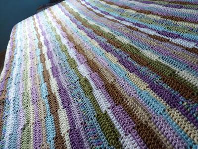 Ribbon Afghan Free Crochet Blanket Pattern Crochet Kingdom