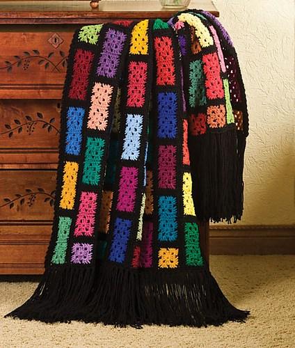 Scraps Spectacular Free Crochet Blanket Pattern ⋆ Crochet