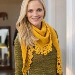 Shawl with Crochet Edge