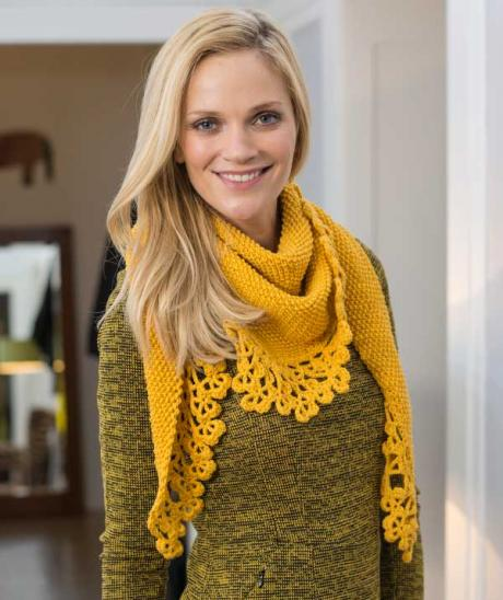 Shawl with Crochet Edge free